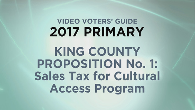 King County Proposition 1: Sales Tax for Cultural Access Program