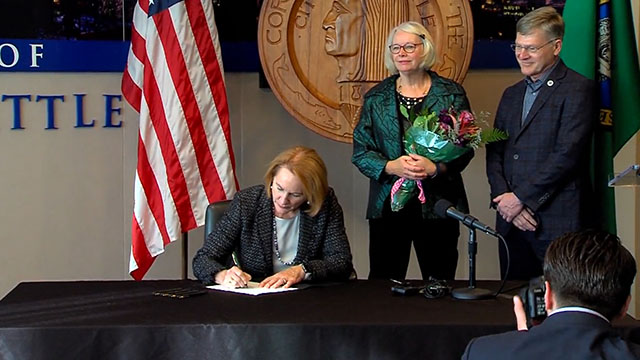 Mayor Durkan signs 2020 City budget; takes questions on I-976 ruling