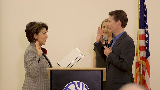 Councilmember-elect Pedersen Swearing-in at Magnuson Park