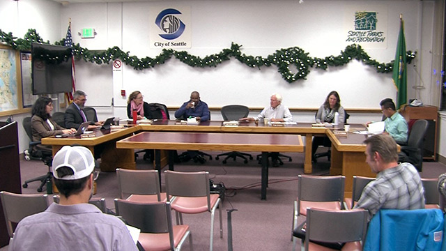 Seattle Board of Park Commissioners Meeting 12/12/19