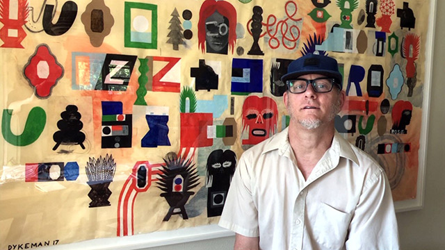 Visual artist Warren Dykeman sends a selfie
