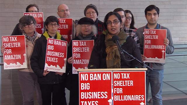 Councilmember Sawant denounces proposed ban on big business taxes