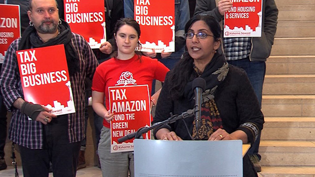 Councilmember Sawant unveils big business tax proposal