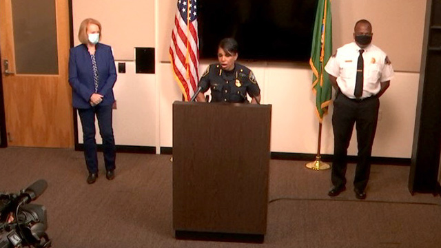 Mayor Durkan, Police Chief & Fire Chief address demonstrations, Monday curfew