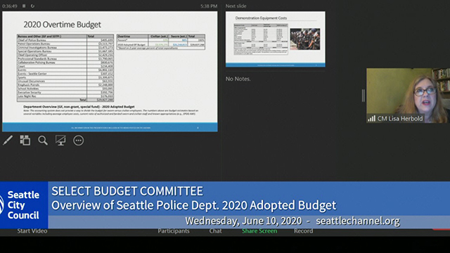 Select Budget Committee 6/10/20