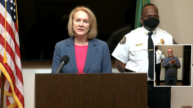 Mayor Durkan, Police & Fire Chiefs provide update on demonstrations, curfew extension