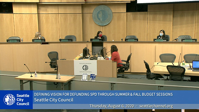 Councilmembers define vision for defunding police department
