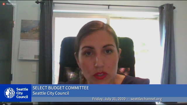Select Budget Committee Session I 7/31/20