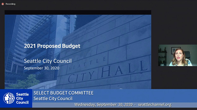Select Budget Committee Session I 9/30/20