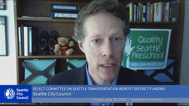Select Committee on Seattle Transportation Benefit District Funding 7/10/20