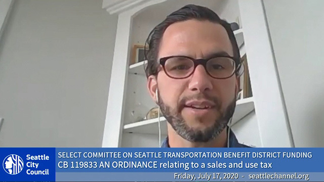 Select Committee on Seattle Transportation Benefit District Funding 7/17/20