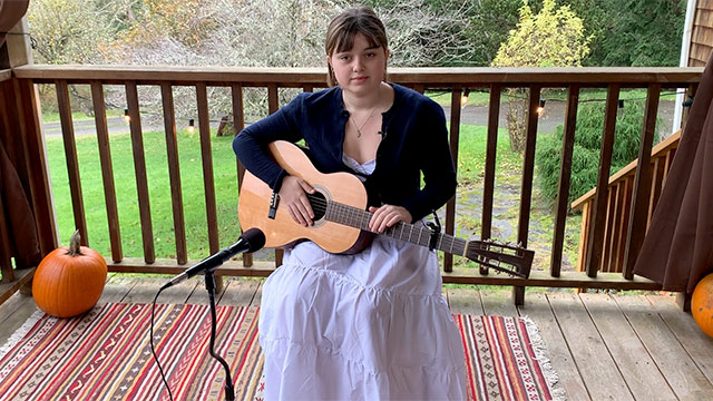 "Art Zone: Mora Kennan performs ""Stella's Song"""