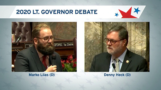 Lieutenant Governor debate with Marko Liias (D) & Denny Heck (D)