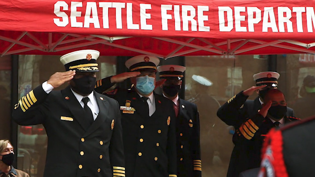 """Never forget"": Remembering Seattle's fallen firefighters"