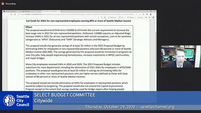 Select Budget Committee Session I 10/29/20