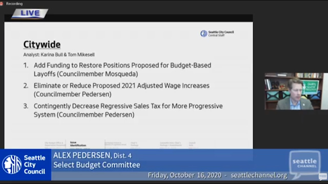 Select Budget Committee Session II 10/16/20