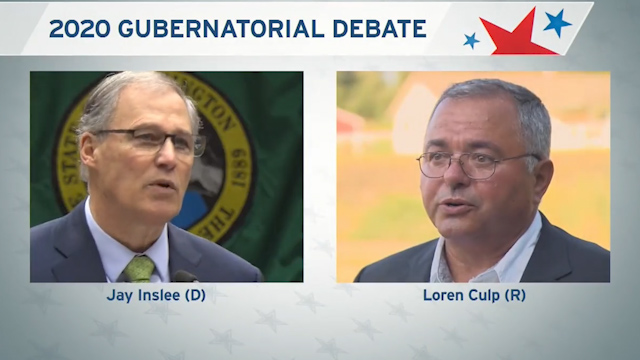 Gubernatorial Debate between GOP challenger Culp & Democratic incumbent Inslee