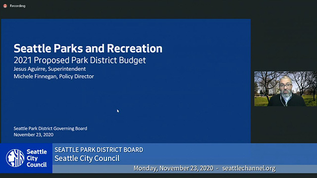 Seattle Park District Board Meeting 11/23/20