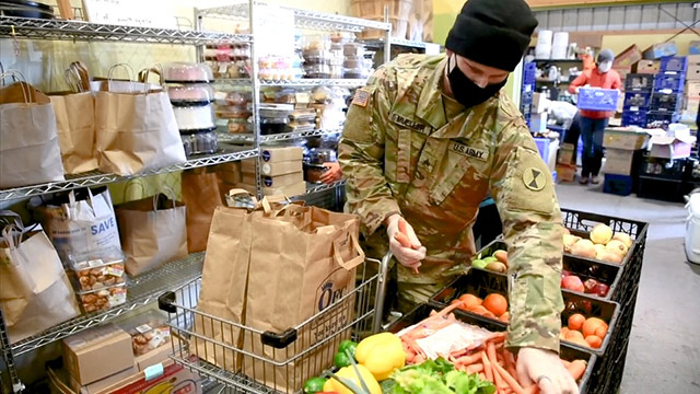 National Guard volunteers step up to help alleviate food insecurity